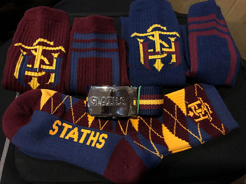 STATHS Socks  3 pk Gift Set/Belt $40 US