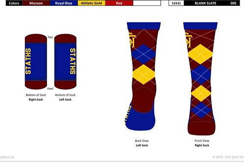 STATHS Socks - Royal Argyle $12 US