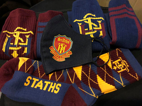 STATHS Socks Gift Set/Mask - Navy $35 US