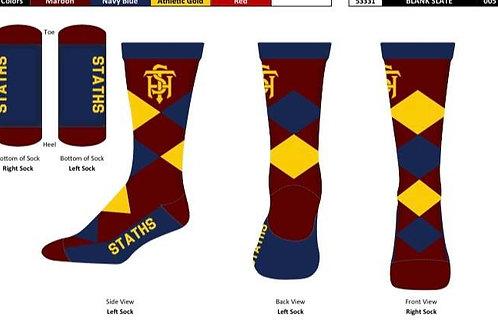 STATHS Socks - Navy Argyle $12 US