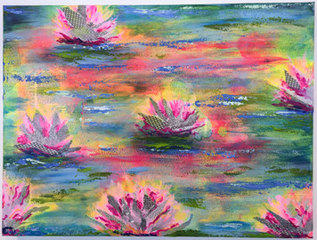Water Lilies Aglow