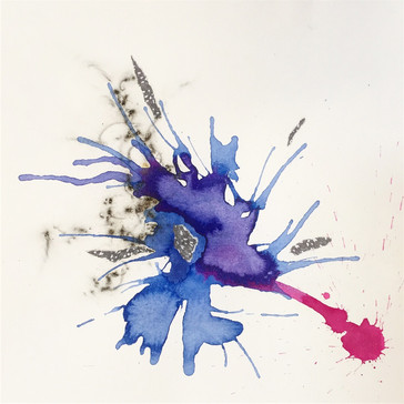 Texture in Motion - Magenta and Blue
