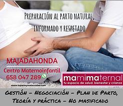 Curso de preparción al Parto Completo primer hijo o clases sueltas de repaso para mamás y papás con experiencia en Majadahonda Madrid, las Rozas, Boadilla, Villanueva del Pardillo, Pozuelo, Aravaca.