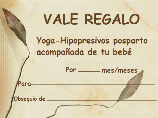 VALE REGALO POSPARTO