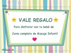 VALE REGALO DE MASAJE INFANTIL