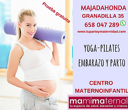 Yoga/Pilates Embarazo y Parto en  Centro Maternoinfantil Mamimaternal Majadahonda, Las Rozas, Boadilla, Las Matas, Villanueva del Pardillo, Aravaca, Torrelodones, Pozuelo,