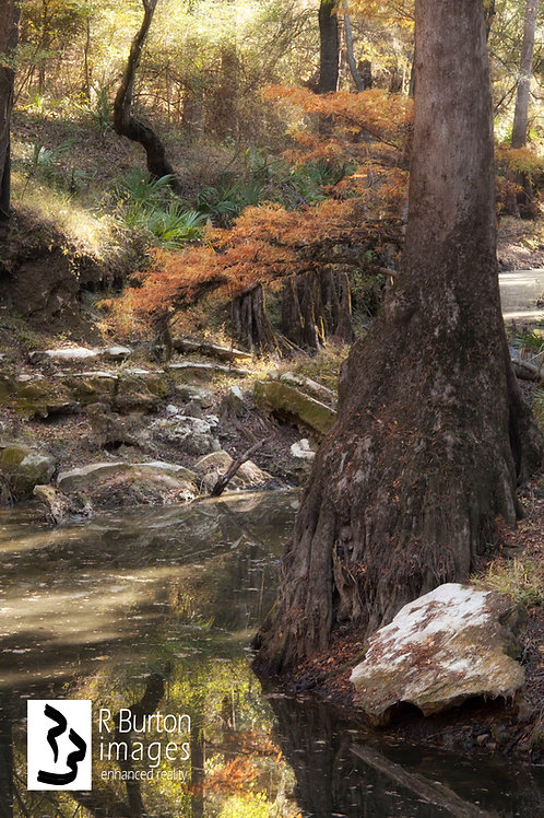Zen Creek, matted for framing