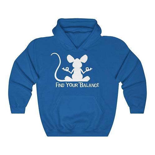 Mouse Balance Unisex Heavy Blend™ Hooded Sweatshirt (white)