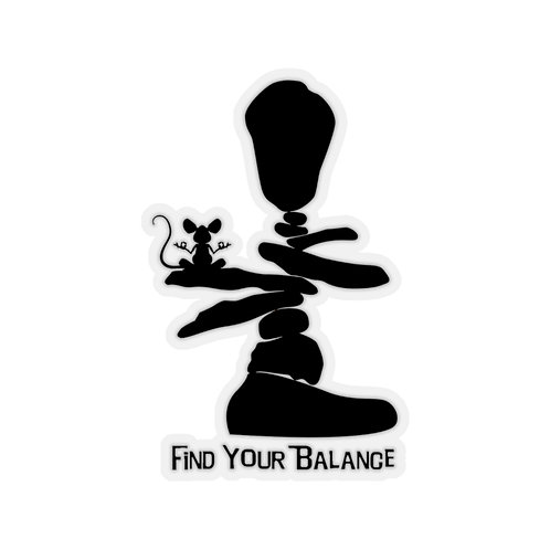 Find Your Balance Kiss-Cut Stickers