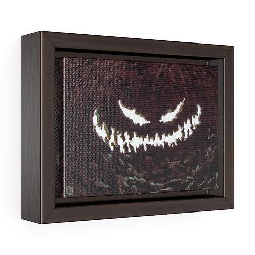 Pumpkin Smile Framed Premium Gallery Wrap Canvas