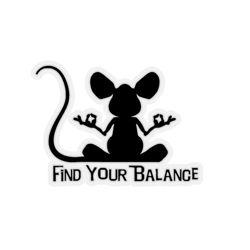 Mouse Balance Kiss-Cut Stickers