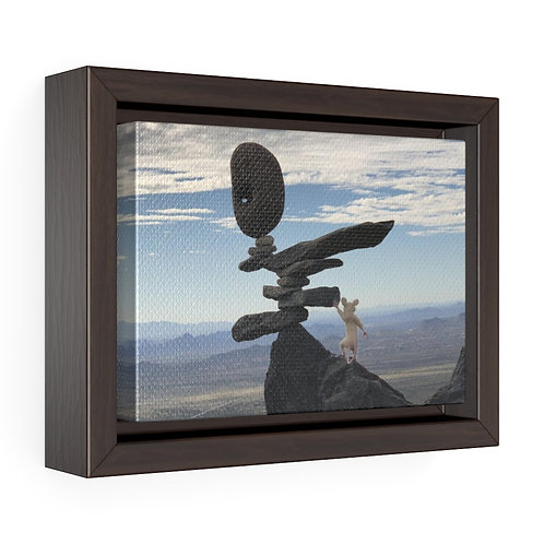 Black Mtn Mouse Framed Premium Gallery Wrap Canvas