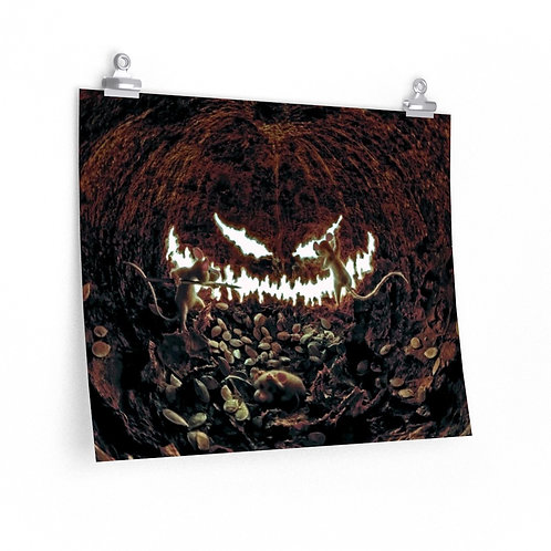 Pumpkin Smile with Mice Posters