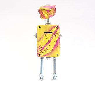רובוט קופת חסכון צהוב ורוד