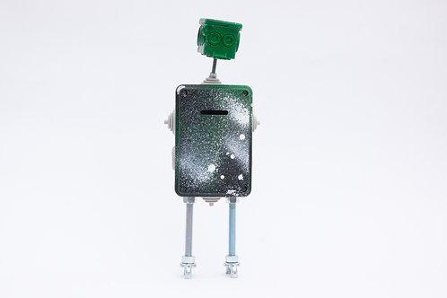רובוט קופת חיסכון ירוק לבן