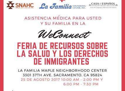 We Connect Feria De Recursos Sobre La Salud Y Los Derechos De Inmigrantes En Sacramento