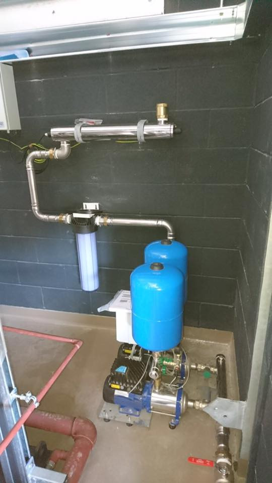 A small booster set installation.