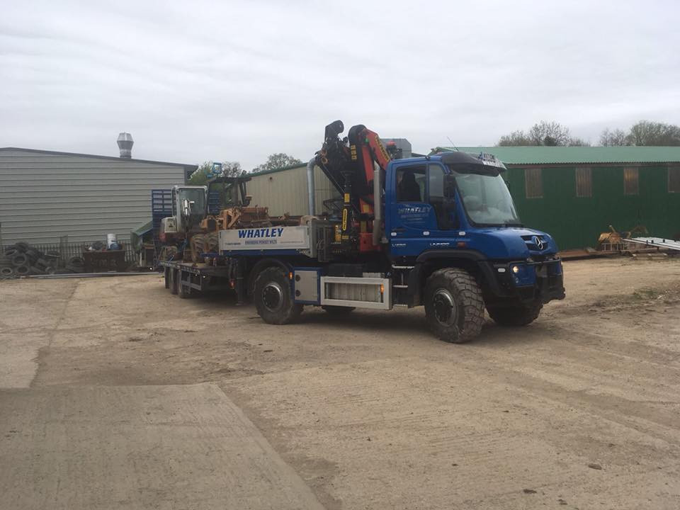 Our Unimog delivering the chain digger a