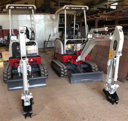 A delivery of two new Takeuchi mini digg