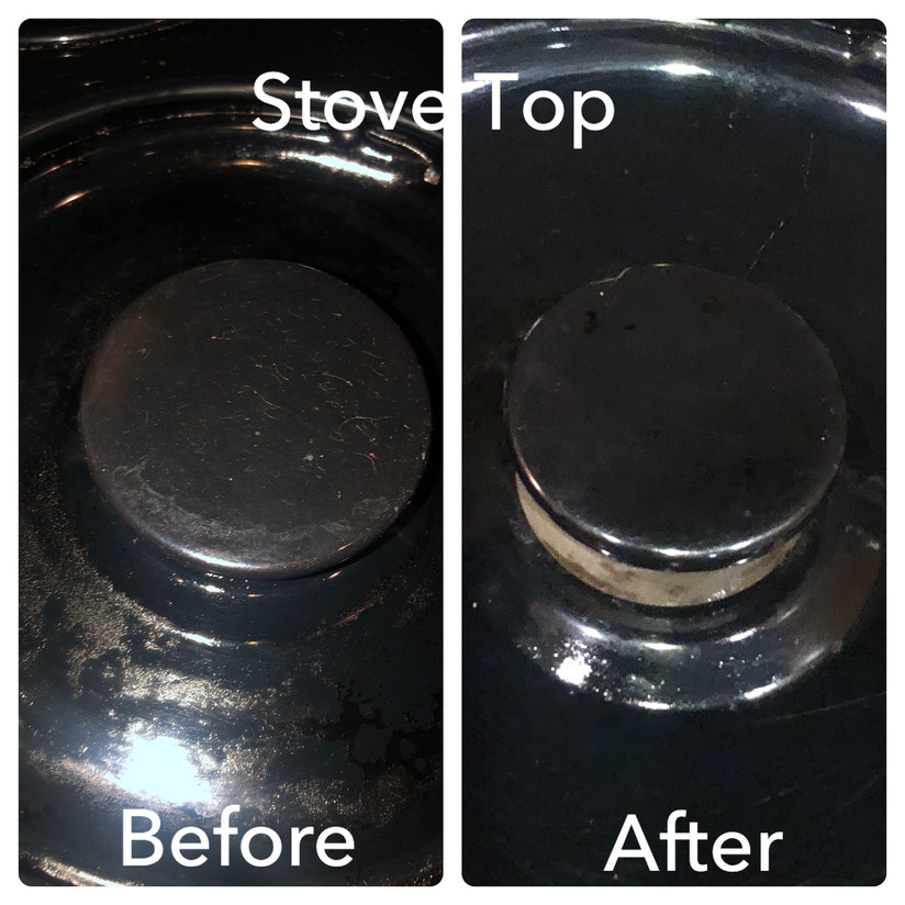 Stove top before and after