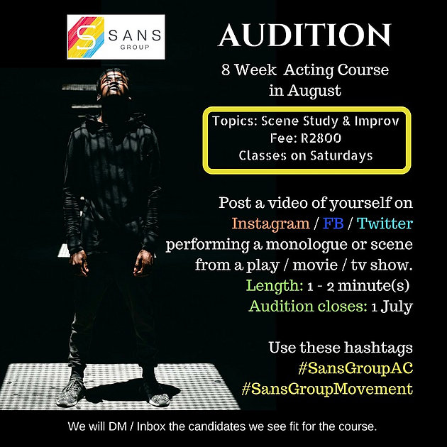 Audition August 8 Week Acting Course Acting Courses In