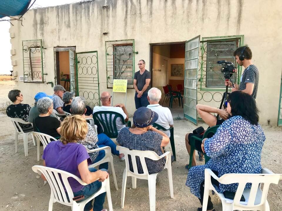 Eitan speaks at the opening