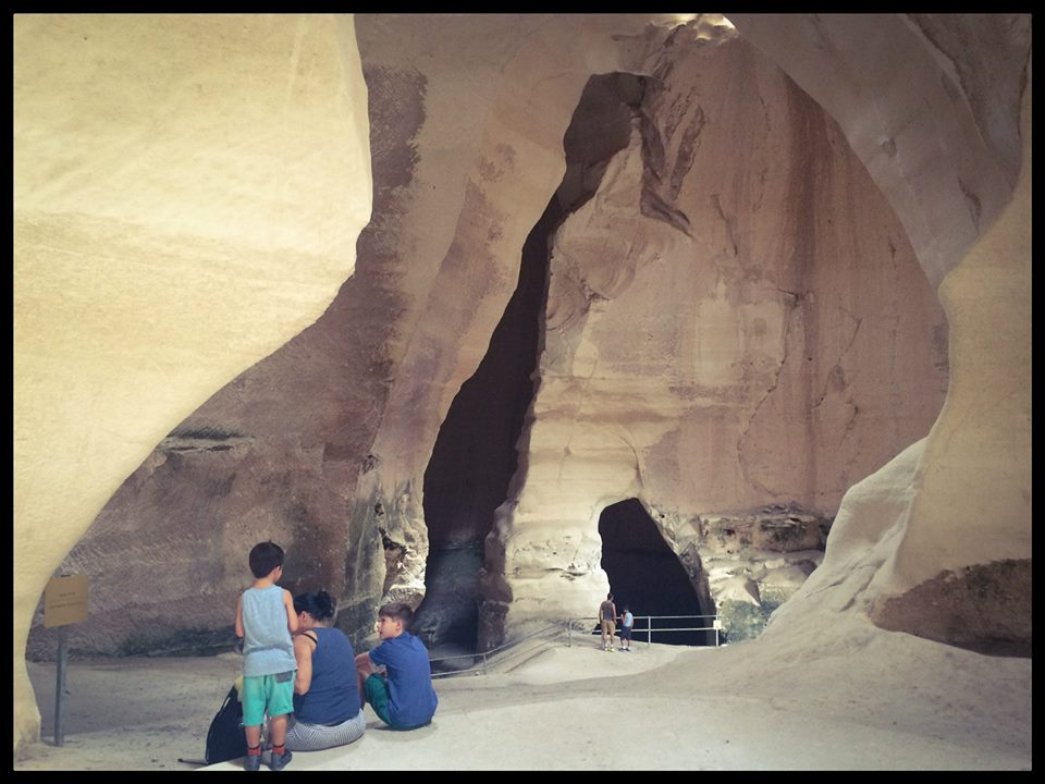 Families are visiting the Bell Caves