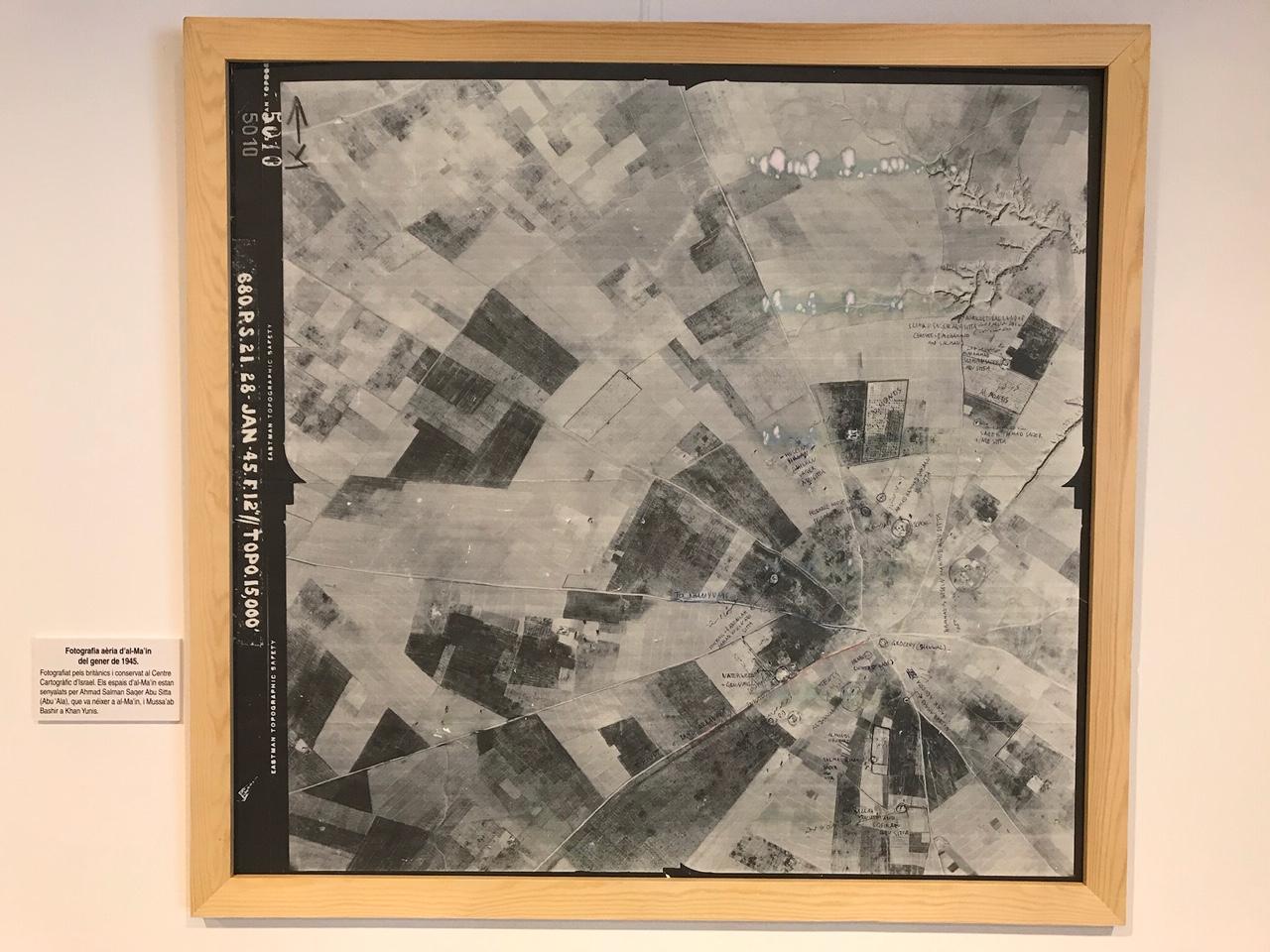 Fotografia aèria d'al-Ma'in del 1945