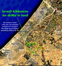 The kibbutzim on al-Ma'in