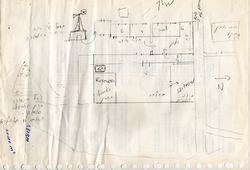 Drawing of his house by Farouk