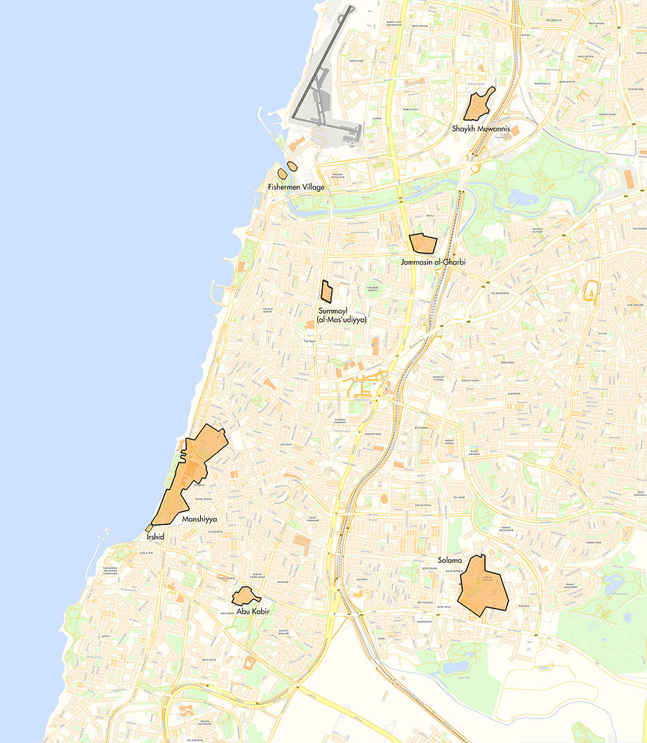 Tel Aviv and its Palestinian villages