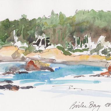 Boiler Bay, watercolor by Aleta Boyce