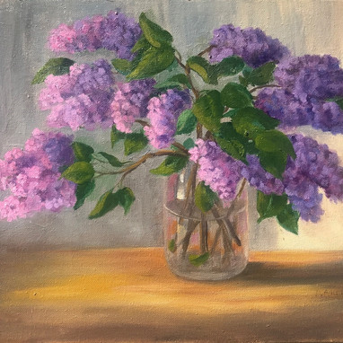 Lilacs, by artist Donetta Anderson