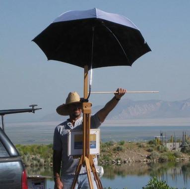 Plein Air painting at the Great Salt Lake.