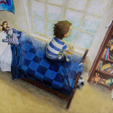 Boy's Room, Acrylic on Canvas Illustration by Scot Vorwaller