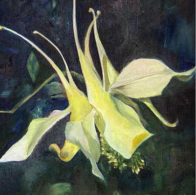 Columbine, oil ptg by Jane Autry