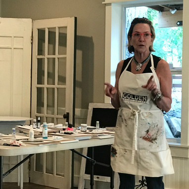 Golden Paint workshop by Stacy Phillips