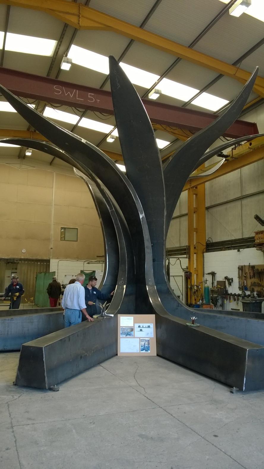 Hornsbridge Island - sculpture well on now