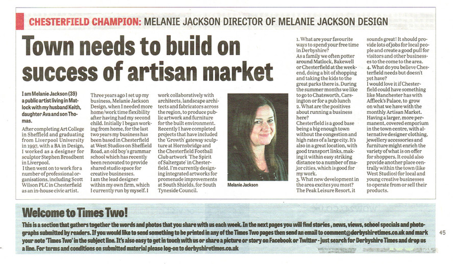 Derbyshire Times - article
