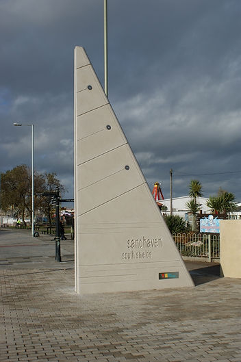 Entrance 'Sail' Markers, South Shields, Melanie Jackson