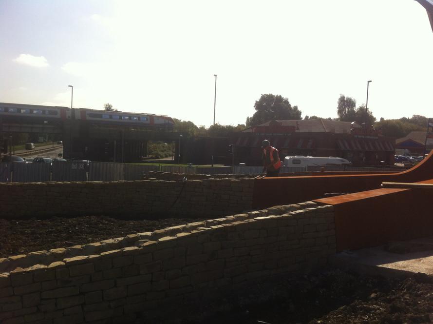 Hornsbridge Island - walls almost complete