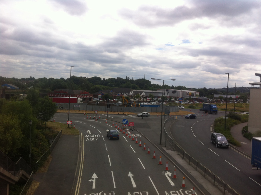 Hornsbridge Island - work has started on site