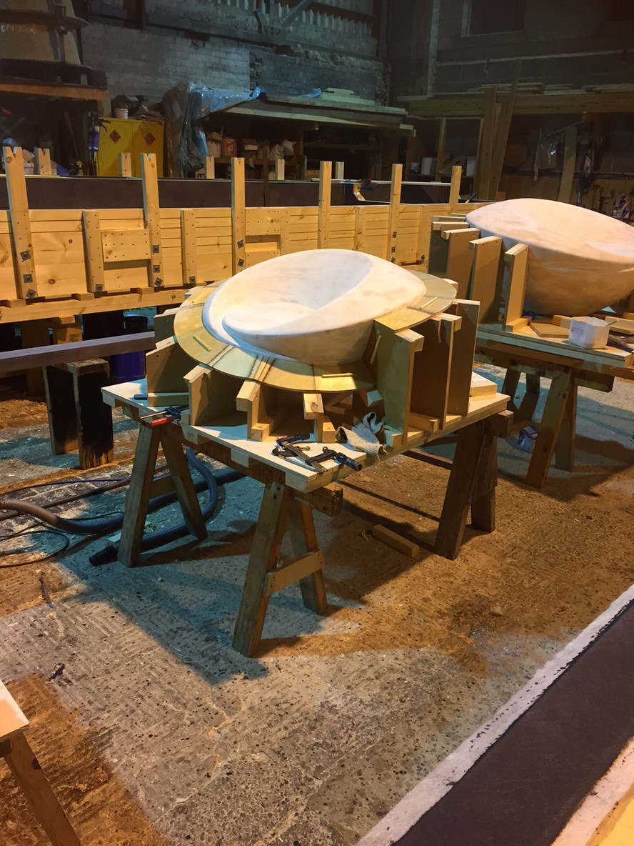 Swirly Cup Seats - moulds for casting