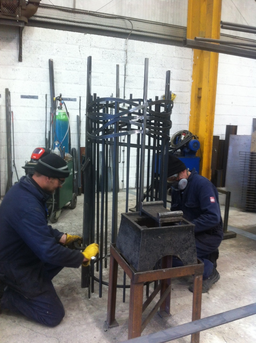 Steelwork  almost completed - Saltergate