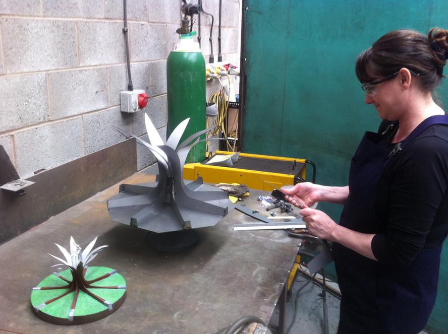 Hornsbridge Island - Fabrication about to start