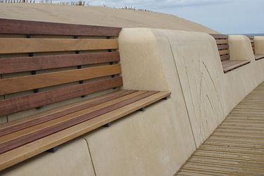 'Seagrass' Artworks/Seating, South Shields, Melanie Jackson