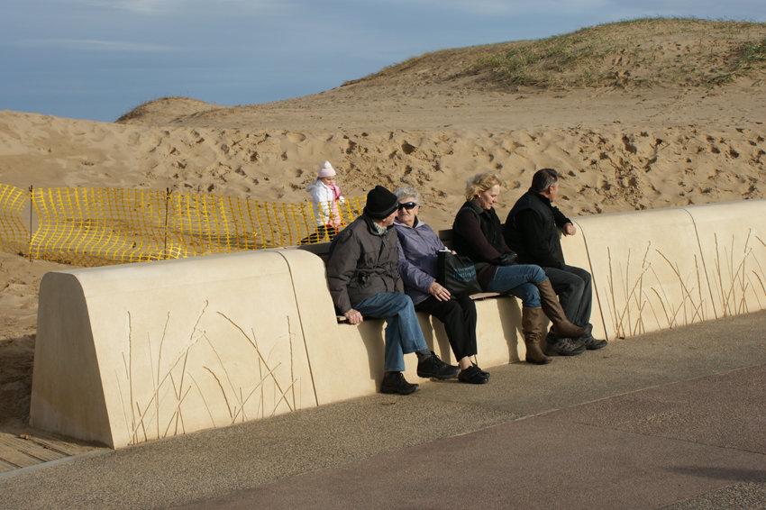 'Seagrass' Artwork/Seating, South Shields, Melanie Jackson