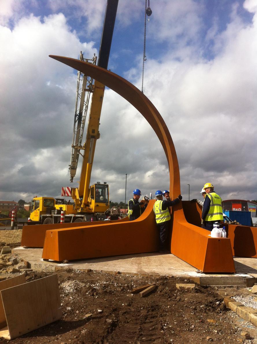 Hornsbridge Island - installation underway