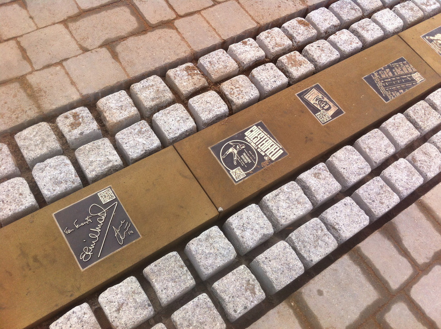 Bronze plaques now in - Saltergate