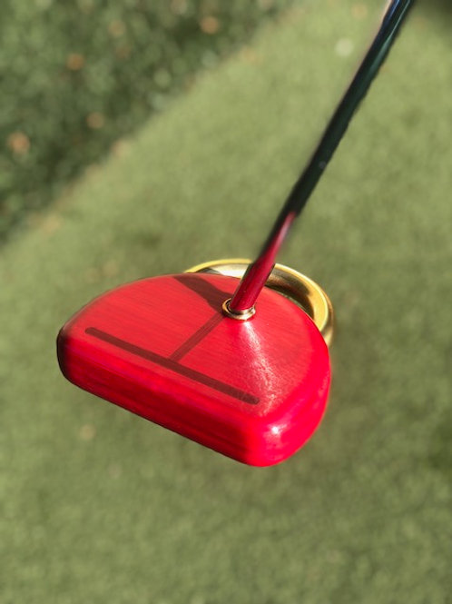 Honu 1 Putter/Kotahi Grip - E Customized-Honu Bamboo/Red